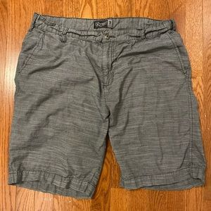 Retrofit Gray Stripped Shorts - Men's - Size 38
